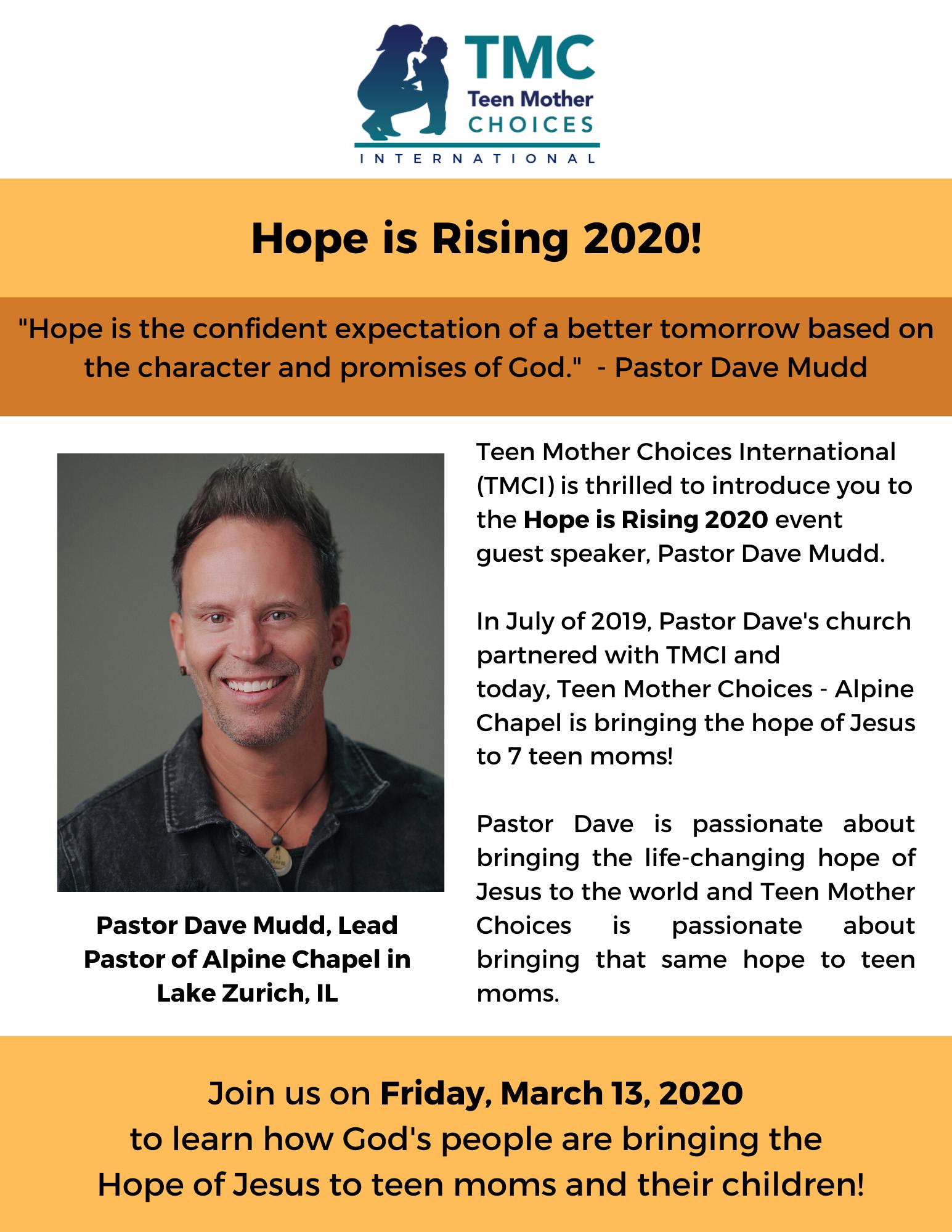 Hope Is Rising Guest Speaker